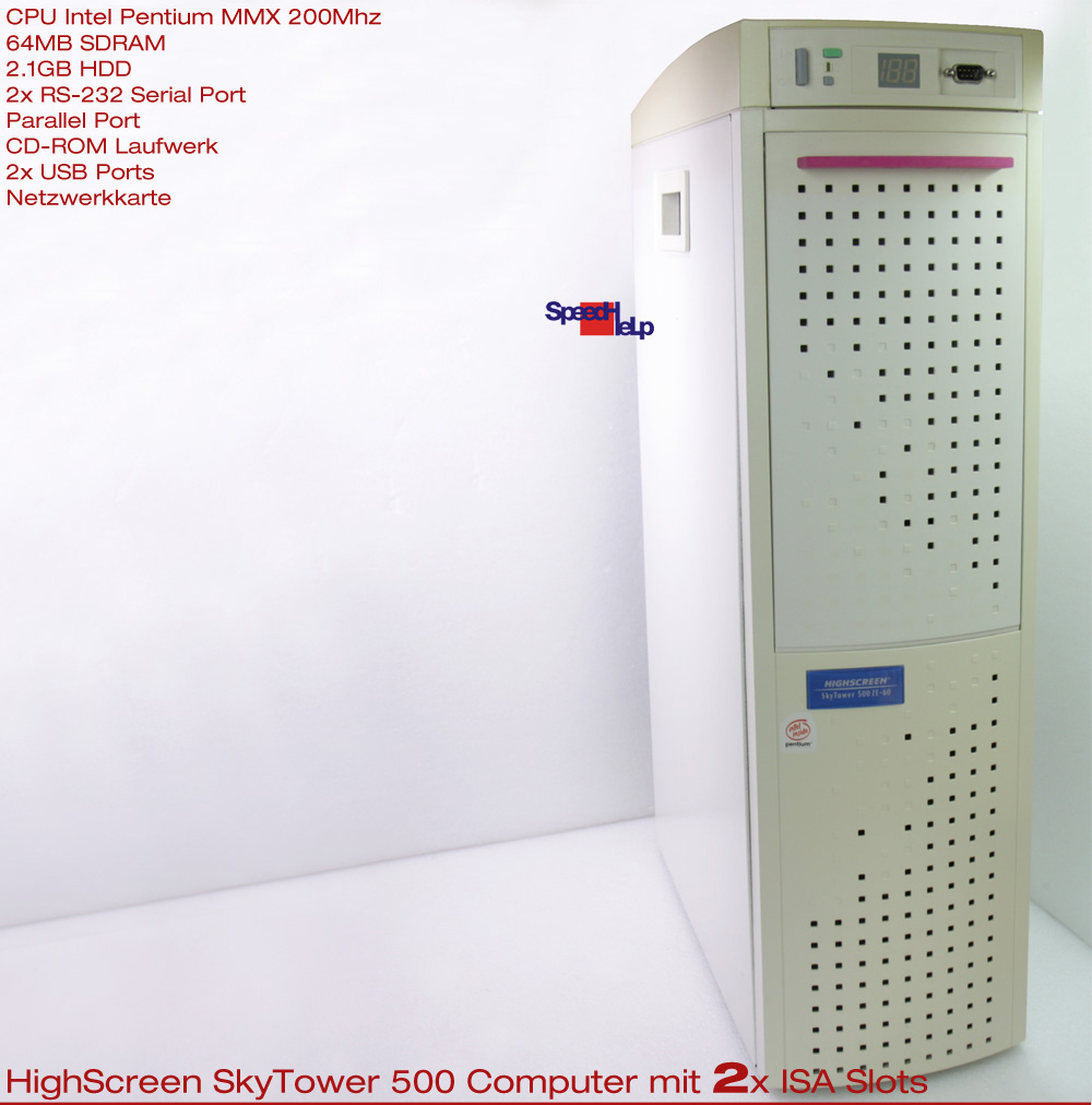 3x ISA HIGHSCREEN SKYTOWER 500 COMPUTER PC PENTIUM 180MHZ ...