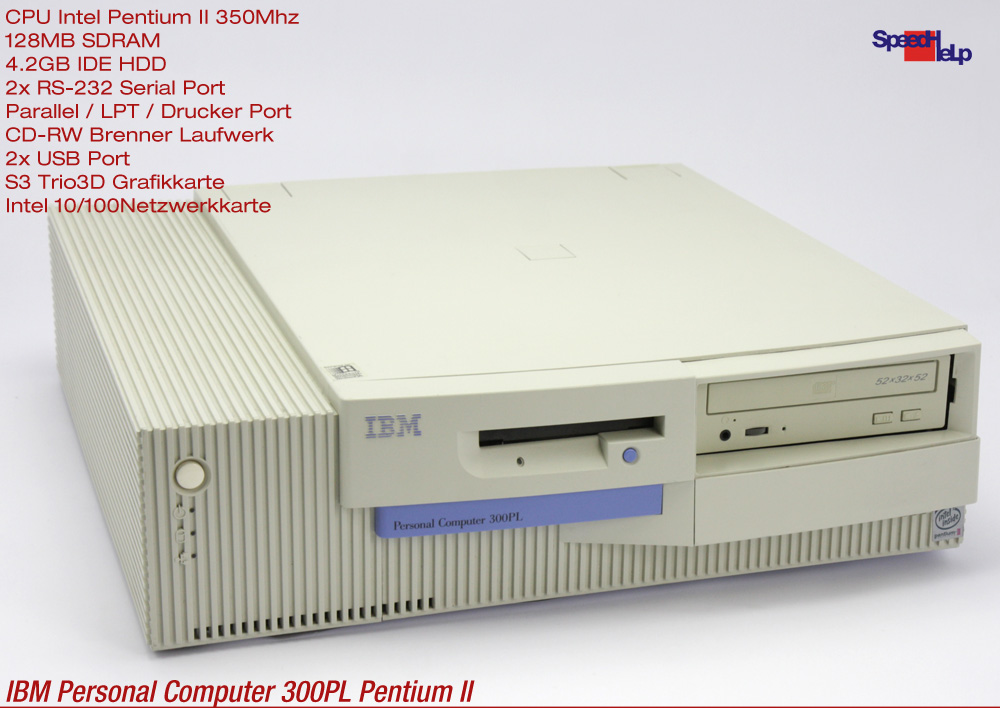 Details about 2x Isa IBM Computer Personal Computer 300PL Pc Pentium 2  Windows 98 Parallel Com