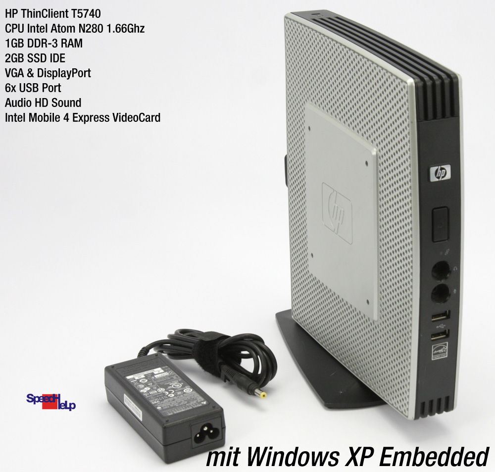Details about Thin Client T5740 Computer PC Atom N280 Windows XP Embedded  SSD 2GB Rs 232 VGA